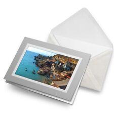 Greetings Card (Grey) - Awesome Anchor Bay Malta  #8997