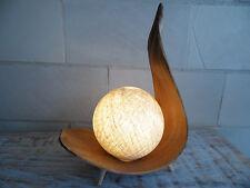 "Palmenblattlampe ""BALI"", natur, Nachttischlampe, Design, Büro, Ambiente,LED"