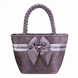 NaRaYa Handbag Fabric Pleated Satin