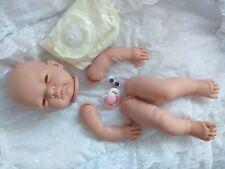 Kit de muñeca de vinilo suave Celia Completo extremidades ojos marrones disco Cuerpo Maniquí Rosa