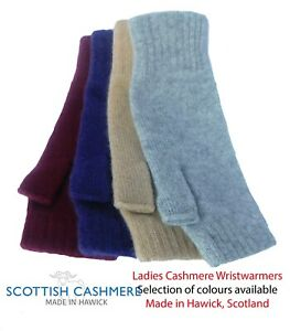 Ladies Pure Cashmere Wristwarmers - Made in Hawick, Scotland