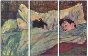 Henri De Toulouse-Lautrec - The Bed Poster Mounted Canvas Print (71x47in) #90961