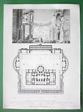 ARCHITECTURE PRINT : ITALY Rome Antoninus Caracalla's Baths