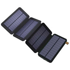 Power Bank With 4 Foldable Solar Panels - BLACK