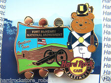 2015 HARD ROCK CAFE BALTIMORE NATIONAL PARK BEAR SERIES/FT.McHENRY PIN