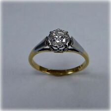 Vintage 18ct Gold & Platinum Single-stone Diamond Ring, circa 1960