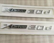 2x XDrive 20d x Drive 2.0d Letter 3D EMBLEM BADGE STICKER BMW X1 X3 X4 X5 X6