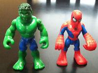 Marvel Playskoool Heroes Hulk & Spider-Man Figures
