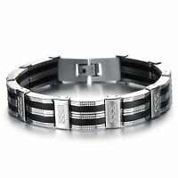 Men's Stainless Steel Chain Bracelet Biker Hippie Hip Hop Men Jewelry Party Gift