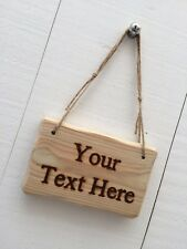 Rustic Driftwood Style Personalised Wooden Design Your Own Text Sign 15cm x 10cm