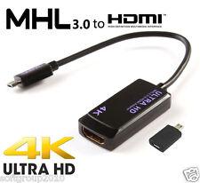 ADATTATORE CAVO ULTRA HDMI TV4k ORIGINALE MHL 3.0 PER SAMSUNG NOTE 3 S5 TAB S S2