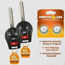 2 For 2013 2014 2015 2016 2017 Nissan Sentra Remote Car Keyless Entry Key Fob