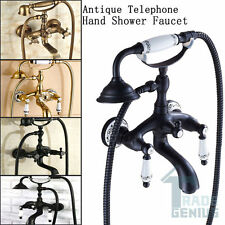 Bathtub Wall Mount Telephone Taps Antique/Black /Orb /Gold Hand Shower Faucets