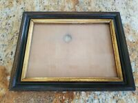 Antique Dark Wood Gold Gilt Picture Frame Wooden Back