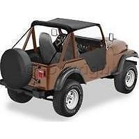 1955-1975 Jeep CJ5 M38A1 Bikini Bimini Top Black Crush