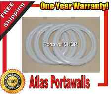 Atlas TOPPER 16'' Fake WhiteWall PORTAWALL Tire insert Trim Set of 4