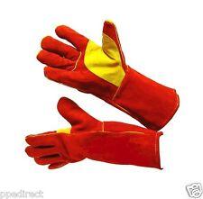 Premium Red Welders / Welding gloves gauntlets