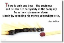 There Is Only One Boss - The Customer - New Motivational Classroom Poster