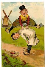 BOB SIGNED TUCK POSTCARDS - LITTLE HOLLANDER -PP-mr3-postmark ALLOA1905