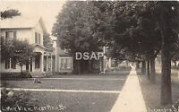 Ohio Postcard Real Photo RPPC 1908 ALEXANDRIA Lawn View West Main Street Homes
