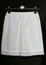 """White/Black MINI Underskirt 6-18 Pure Cotton Half Slip 16"""" Petticoat WAIST SLIP"""