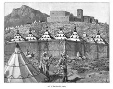 Il Marocco missione britannico; uno dei campi Donna-Stampa antica 1887