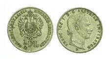 pcc1590_57) AUSTRIA 1/4 FLORIN 1859 B FRANZ JOSEPH I°
