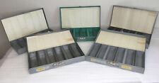 Vintage Mansfield Metal 35mm Slide Storage Box Cases Lot (#5) Each Holds 150 2x2