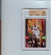 2009-10 ADRENALYN XL DWYANE WADE  EXTRA SIGNATURE #28 BGS 10 Pristine Pop 3