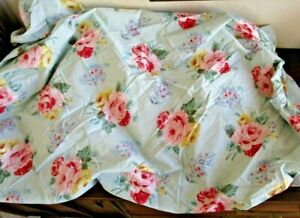 Vtg RALPH LAUREN Cottage Lane Queen Fitted Sheet EUC Green Chic French Floral