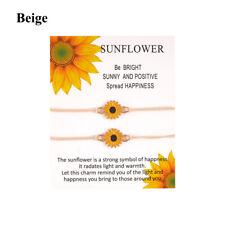 Festival Gifts Couple Jewelry Sunflower Bracelet Anklet Turnsole Earring Woven