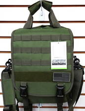 Laptop Backpack Rucksack Tactical Shoulder Messenger Bag OLIVE Molle Design