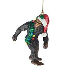 "Bigfoot The Yeti Design Toscano Hand Painted 3"" Holiday Ornament"