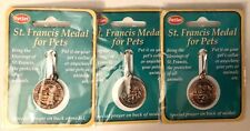 St. Francis Medals PET Collar Tags Bring Blessings To CATS 3 Pkgs/3 Medals NEW