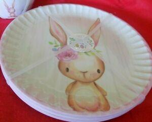 Set of 8 Easter Bunny Boulevard 🐰 Melamine Dinner Plates  NWT 🐰