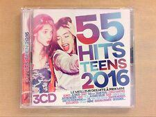 COFFRET 3 CD / 55 HITS TEENS 2016 / NEUF SOUS CELLO