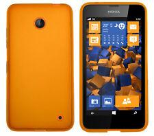 mumbi Hülle f. Nokia Lumia 630 / 635 Schutzhülle Case Tasche transparent orange