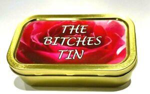 1 OZ TOBACCO TIN UNHINGED PILL TIN,BAIT TIN,SEWING TIN,BACCY TIN,STASH CAN