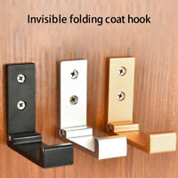Foldable Wall Mounted Clothes Hanger Rack Towel Coat Robe Hook Aluminum Surprise