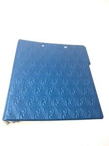 VTG - MEAD 3 RING BINDER NOTEBOOK Blue Puffy Metallic Folder