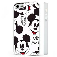 Disney Mickey Mouse Face Pattern WHITE PHONE CASE COVER fits iPHONE