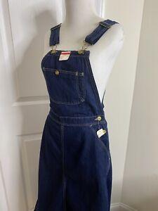 Women's VINTAGE Pointer Brand Denim Bib Overall Jumper Dress •Size 7 *NEW