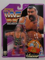 1994 WWF HASBRO WRESTLING FIGURE RICK STEINER ON PURPLE CARD MOC
