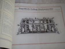 Vintage catalogue Frankenthal Newspaper printing press rotations 1922