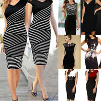 Fashion Women's Bodycon Slim Business Party Evening Cocktail Midi Pencil Dress