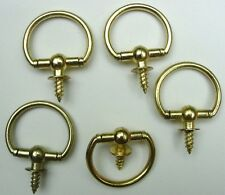 Swivel Top Ring Hanger Door Pull Smooth Bright Finish Package of 10