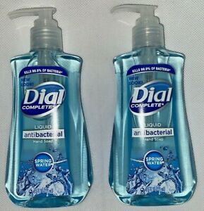 2 Dial Complete SPRING WATER Liquid Hand Soaps 7.5 FL OZ