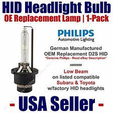 OE HID Headlight Low Beam GENUINE German PHILIPS 1pk Select Subaru & Toyota D2S
