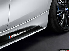 2x BMW M Performance seiten schweller Weiß aufkleber sticker F10 F20 F30 E70