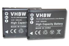 2x BATTERIE POUR SANYO DB-L80 DBL80 DBL-80